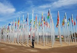 Flags from countries attending COP22 in Marrakesh