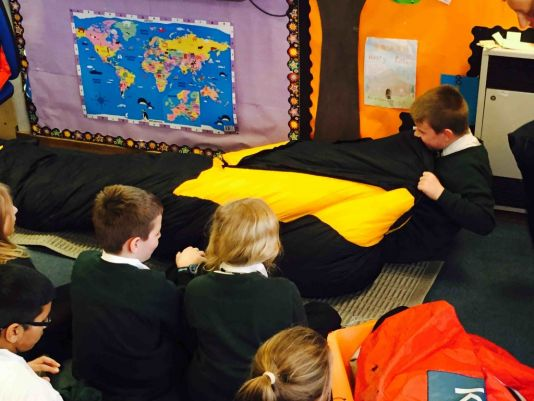 The students learned all the practical aspects of polar exploration.