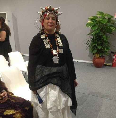 Traditional Berber dress worn by one of the winners at the Momentum for Change Award Ceremony