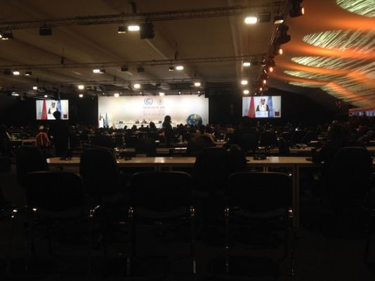 Inside the main negotiating hall