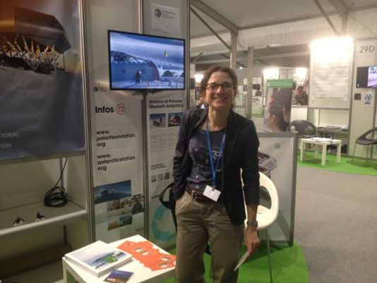 International Polar Foundation booth in the exhibits area on the main site