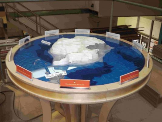 Antarctic puzzle with ice sheets