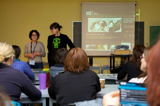 The National Film Board of Canada presenting how the Unikkausivut film collection can be used in the classroom.
