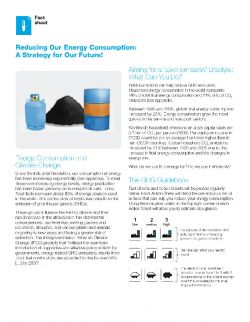 Reducing our energy consumption