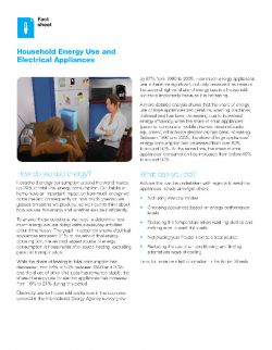 Home, an energy consumption hot spot