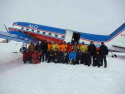 Photo of the team in Antarctica