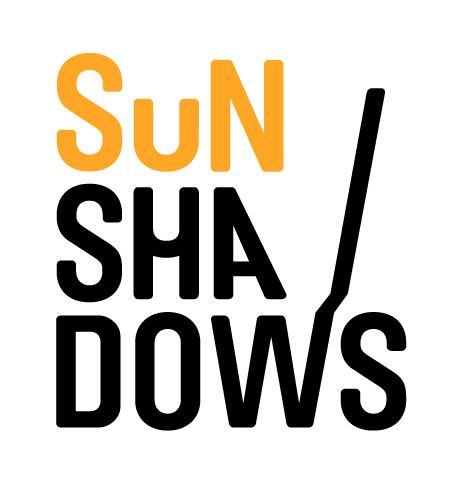 Logo of the Sun Shadows project, an initiative of the International Polar Foundation and Museo Nazionale dell'Antartide.